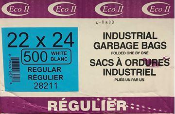 Image de Sacs à déchets 22x24 blanc régulier