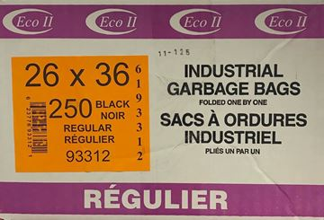 Image de sac à déchets 26x36 noir régulier