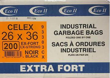 Image de Sac à déchets 26x36 noir extra-fort