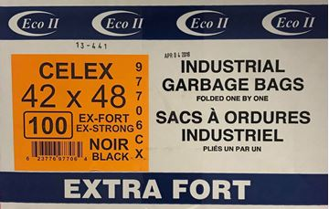 Image de Sac à déchets 42x48 noir extra-fort