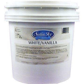 Fondants à Rouler Blanc Vanille 20 Lbs de Satin Ice