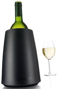 Seau rafraichisseur pour bouteille de vin Vacu Vin élégant en noir | INTER 3500.3649450