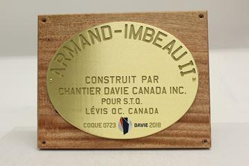 Image de Plaque Murale - Bois et Brass - Chantier maritime Davie