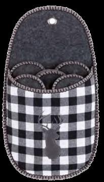 Image de Porte-pantoufles à carreaux noirs ( 5 paires)
