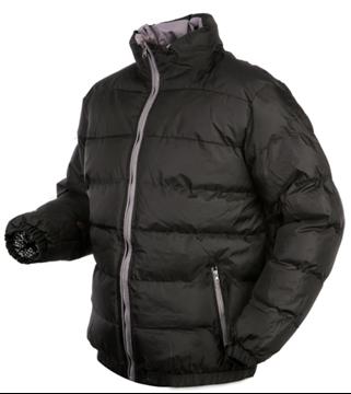 Image de Manteau d'hiver noir unisexe
