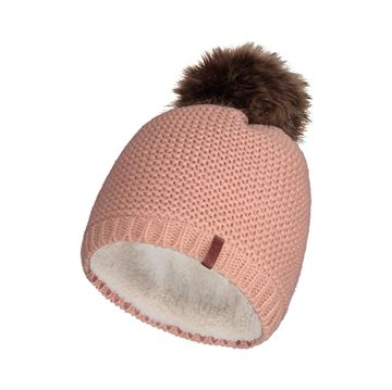 Image de Tuque-Tricot acry.-Doublure de Boa-Four.synth rose