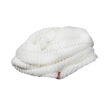 Image de Foulard infinité-Tricot acrylique blanc