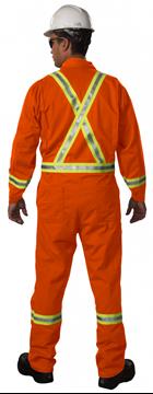 Image de Couvre-tout orange Résistant au feu, Bandes Rléchissantes avec Zipper / BIG BILL 1325ZUS9