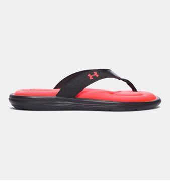 UNDER ARMOUR - Chaussures - UA W MARBELLA V T SANDALE-BLK - ORANGE-NOIR - femme
