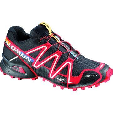 SALOMON - Chaussures de course en sentier et/ou en hiver -  SPIKECROSS 3 CS - NOIR-ROUGE - homme