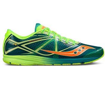 SAUCONY - Chaussure de course de route - Saucony Type A - homme - vert-jaune-orange
