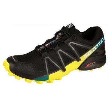 SALOMON - Chaussure de course en sentier - SPEEDCROSS 4 - homme - noir-vert-jaune