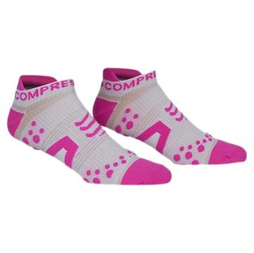 COMPRESSPORT - Bas compression de course Run court - Rose - T1
