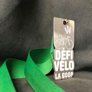 Défi Vélo La coop - médaille sur mesure