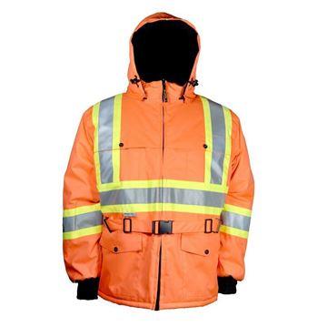 Image de Manteau Doublé avec Bandes Réfléchissante Orange  / NAT'S WK700