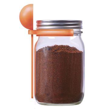 Image de Clip cuillère à café et pot mason