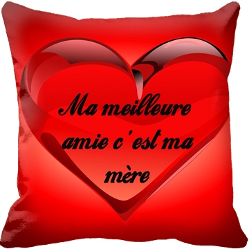 Coussin texte