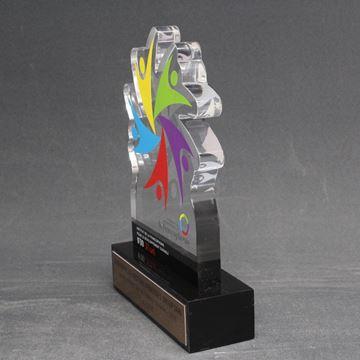 IFDD - trophée acrylique sur mesure