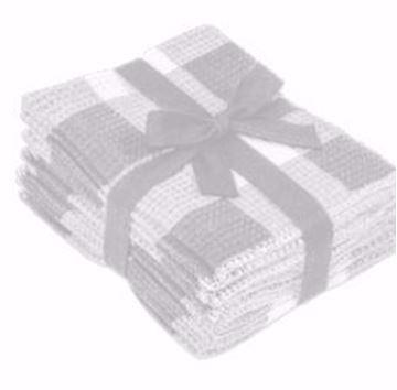 Image de lavette gaufrées à carreaux gris 8/PQT 13 x 14
