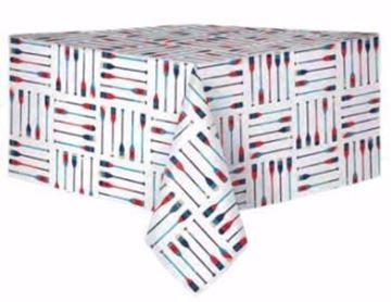 Image de Nappe en peva 60 x 84 blanche avec pagaies