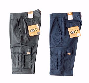 Image de Pantalon cargo extensible travail Orange River marine ou noir