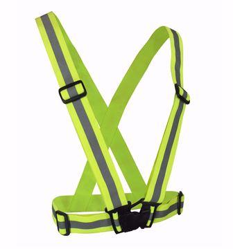 Image de Bretelle ceinture de sécurité fluo