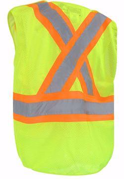 Image de Veste de sécurité avec bandes réfléchissantes en filet