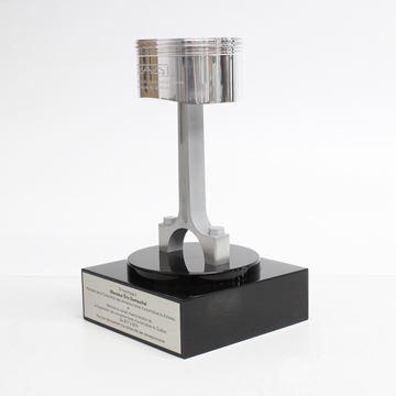 Piston - Trophée de métal et d'acrylique