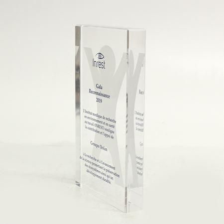 Image de Sur mesure - Trophée Acrylique -  Inrest