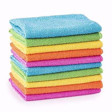 Image de Microfibre 14 x 14 ( Couleurs assorties)