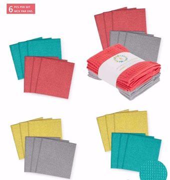 Image de Linge de table microfibre 12 x 12  6/ paquets