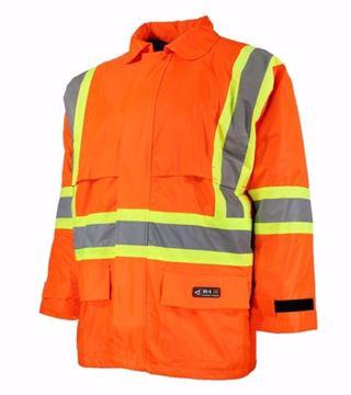 Image de Manteau imperméable orange fluo CSA