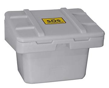 Image de Bac gris à sel et à sable  30'' x 24'' x 24''