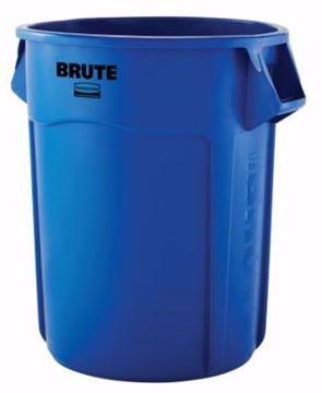Image de Poubelle Brute bleu recyclage 32 gallons