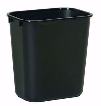 Image de Poubelles de bureau Rubbermaid 26.6 litres noir