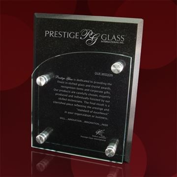 Image de Plaque murale - Granite - verre