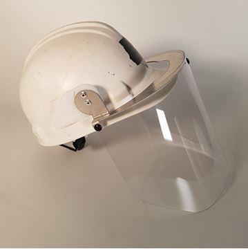 Image de Covid - visière pivotante pour casque de construction