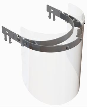 Image de Visière de protection avec support pour casque de construction