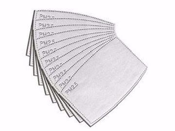 Image de Filtre au charbon 5 couches pour masques lavables et jetables paquets de 50 . En stock!!