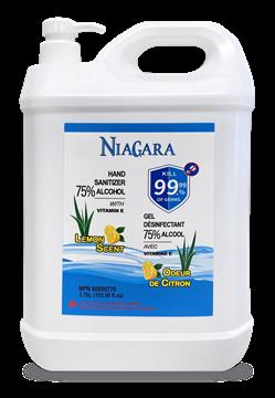 Image de Niagara gel pour les mains antibactérien, odeur de CITRON 3785 ml