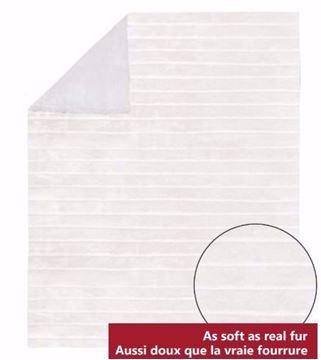 Image de Jeté blanche en fausse fourrure endos en sherpa 48 x 60