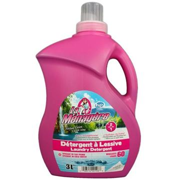 Image de Détergent / Assouplisseur à lessive HE ( 2 en 1) MÉNAGÈRE 3 litres 60 brassées parfum océan
