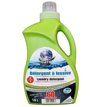 Image de Détergent à lessive avec assouplisseur HE ( 2 en 1) parfum aquatique 1.6 litres